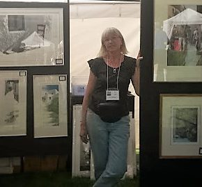Evelyne at Art in the Park