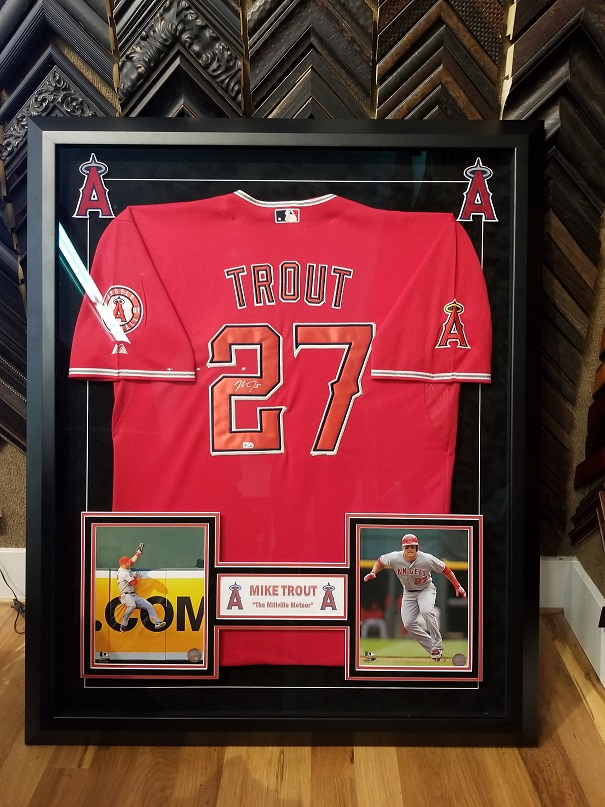 hot sale online 47d27 0aac1 Framing a Mike Trout Signed Jersey – Finer Frames